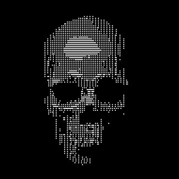 Squared Off Skull by Delibobs