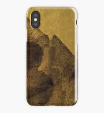 Cool, unique modern brown abstract painting art design iPhone Case