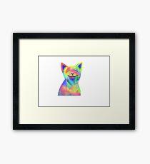 Rainbow Cat Framed Print