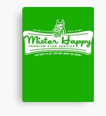 Mister Happy Premium Stud Service Canvas Print