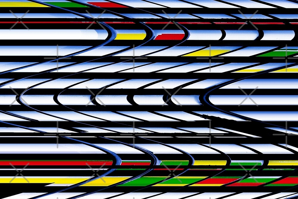 To & Fro - Curved Rectangles in Primary Colors by Buckwhite