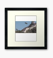 UFO Aliens Great Wall of China Framed Print