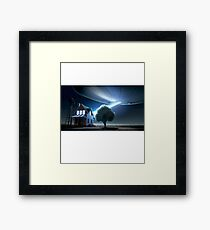 UFO House Abduction Framed Print