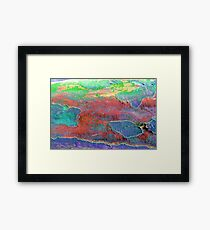 Map of Colors Framed Print