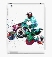 Quad bike, motorcycle race iPad Case/Skin