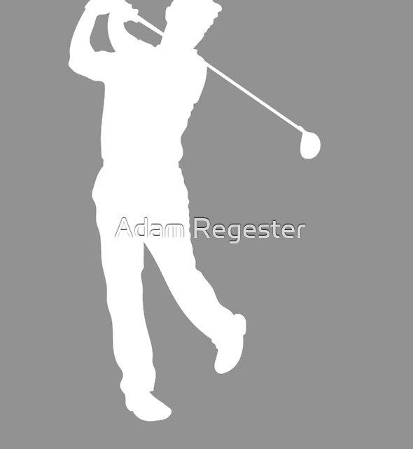 Grey Golfer Silhouette by Adam Regester