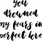you drowned my fears in perfect love by Daria Smith
