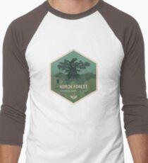 Camiseta ¾ bicolor para hombre Parque Nacional Forestal de Korok