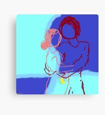Expectant Couple Canvas Print