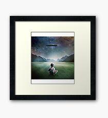 UFO Abduction  Framed Print