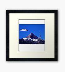 UFO Hollywood Pyramid Framed Print