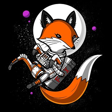 Fox Space Astronaut Cosmic Galaxy Travel by underheaven