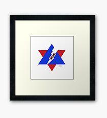 REMNANT WARRIOR STAR - JESUS LIGHTENING Framed Print