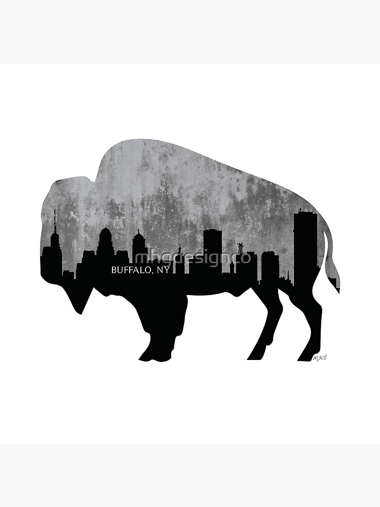 Buffalo, New York Skyline, Zement von mhgdesignco
