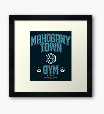 Mahogany Town Gym Framed Print