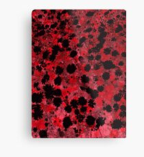 Modern flower pattern art in red color Metal Print