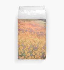 Wildflower Mural without text Duvet Cover