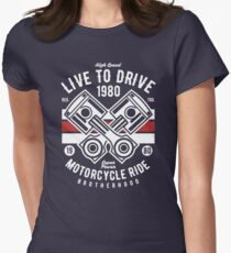 MOTORCYCLE GARAGE Women's Fitted T-Shirt