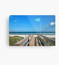 Public Beach Access Metal Print