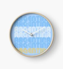 Argentina Football Soccer Designs Tee and Apparel Clock