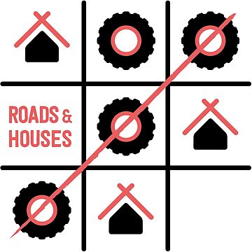 Roads and Houses Game - a road trip always wins by TravellingK