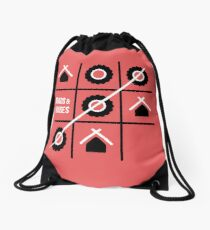 Roads and Houses Game - a road trip always wins Drawstring Bag