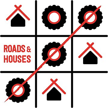 Roads and Houses Game - a road trip always wins (RED) by TravellingK