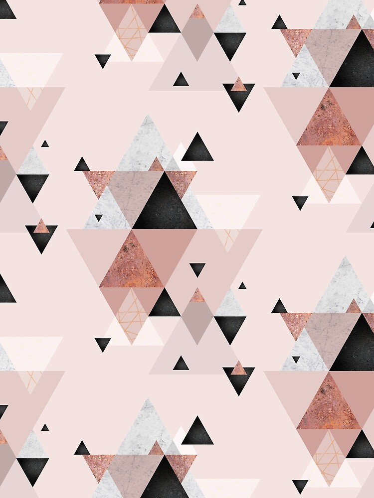 Geometric Compilation in Rose Gold and Blush Pink by UrbanEpiphany