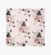 Geometric Compilation in Rose Gold and Blush Pink Scarf