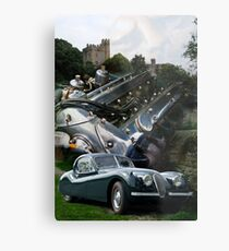 Mystic Autos #2 Then and Now Metal Print