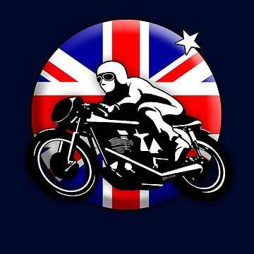 Classic British Motorbike by MikePrittie