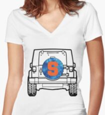 Syracuse Jeep Women's Fitted V-Neck T-Shirt