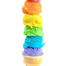 Rainbow Ice Cream Cone by Pamela Maxwell