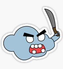 angry zombie cloud Sticker