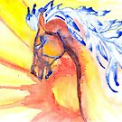 horse of wind and sun by RavensLanding