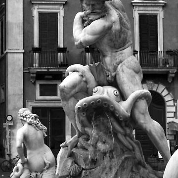 Neptune Fountain Piazza Navona by GregorDyer