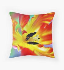 Flaming Throw Pillow