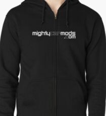 Sudadera con capucha y cremallera Mighty Car Mods - Logotipo simple (para camisas oscuras)