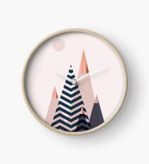 Scandinavian Mountains Clock