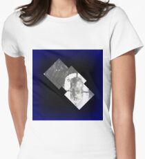 Glowing Squares Women's Fitted T-Shirt