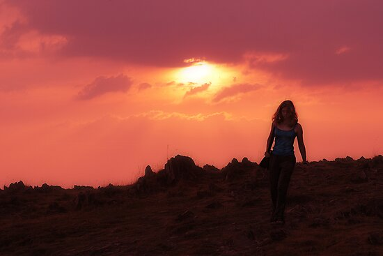 Walking at Sunset by SquarePeg