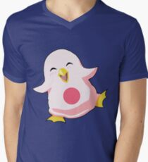 Yun baby wall penguin Men's V-Neck T-Shirt