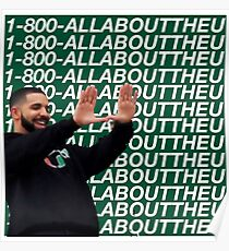 Drake All about the U- University of Miami Poster