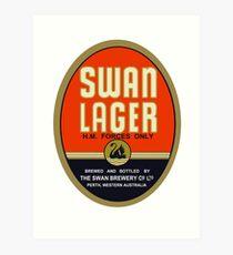 Swan Lager Art Print