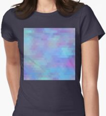 Color Vibe abstract geometric art Women's Fitted T-Shirt