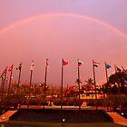 Double Rainbow in  Kona by Randy Richards