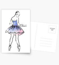 ballerina figure, watercolor illustration Postcards