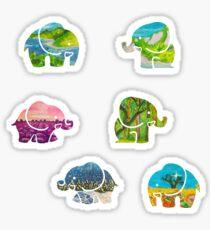 Traveling Elephants Sticker