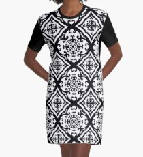 A Fine Flourish Digital Pattern Design Graphic T-Shirt Dress