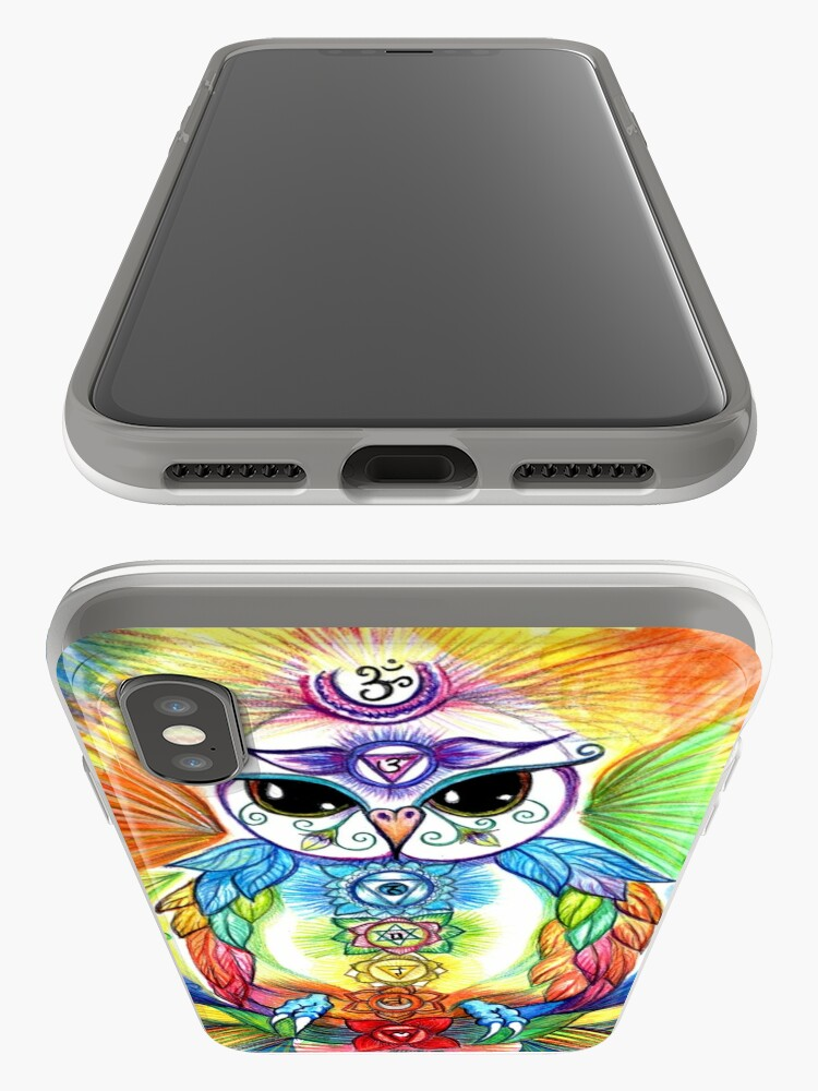 Alternate view of Chakra Owl-Yoga Owl by Sheridon Rayment iPhone Case & Cover
